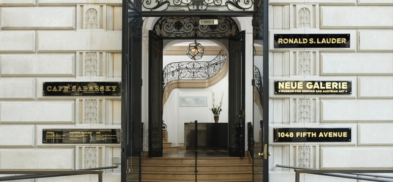 single outing to neue galerie, museum